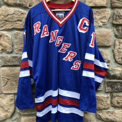 vintage 90's New York Rangers Mark Messier Starter Authentic NHL Jersey size 46 Large