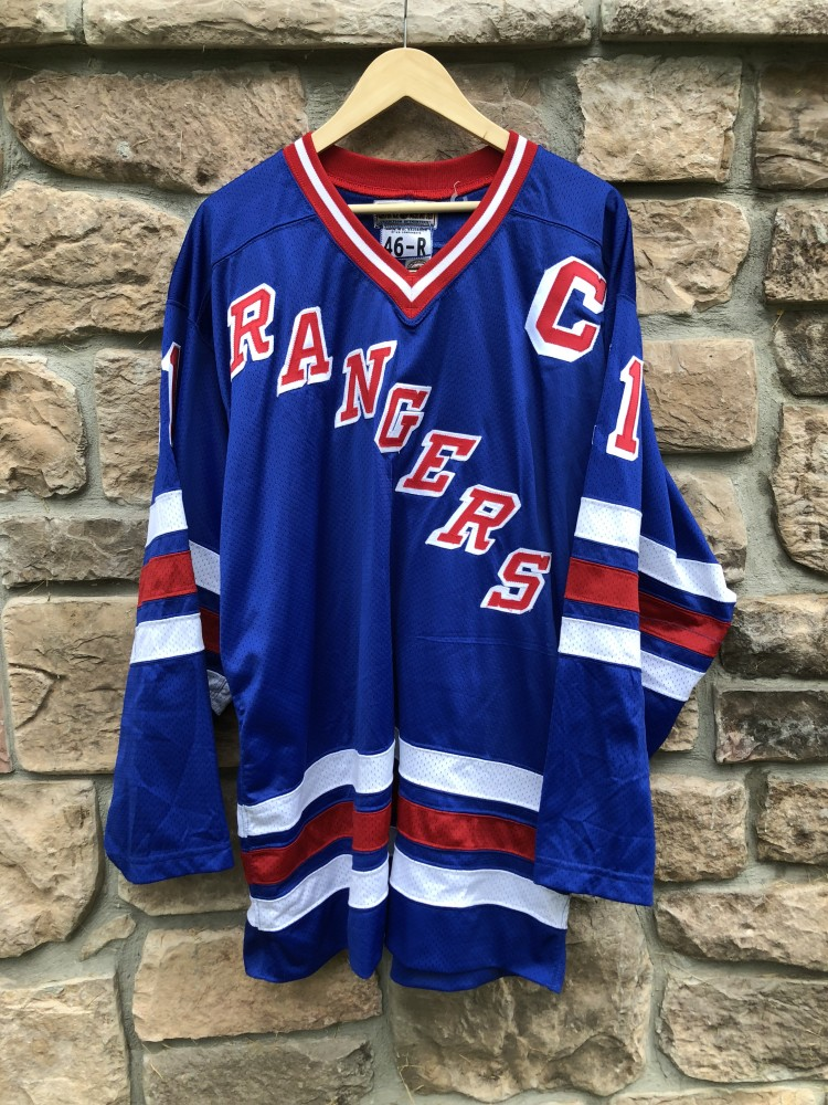 new products 79fda 3cbee 1996 Mark Messier New York Rangers Authentic Starter NHL Jersey Size 46