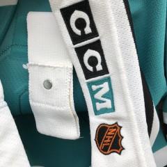 90's Sandis Ozolinsh San Jose Authentic CCM NHL Jersey size 52