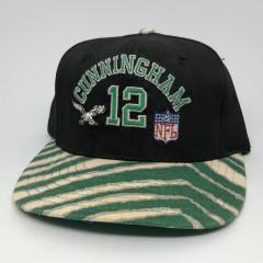 vintage 90's Philadelphia Eagles Randall Cunningham Zubaz AJD NFL Snapback hat