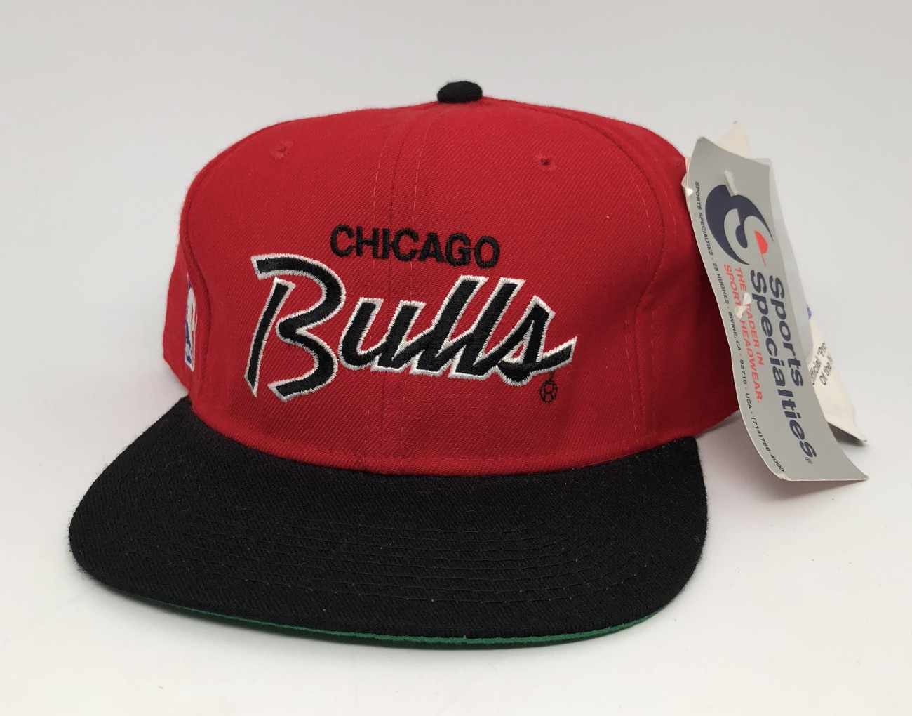 90's Chicago Bulls Sports Specialties script NBA fitted hat size 7 1/2