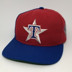 90's Texas Rangers Sports Specialties Back script snapback hat