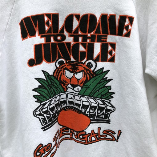 vintage 80's Cincinnati Bengals welcome to the jungle NFL crew neck