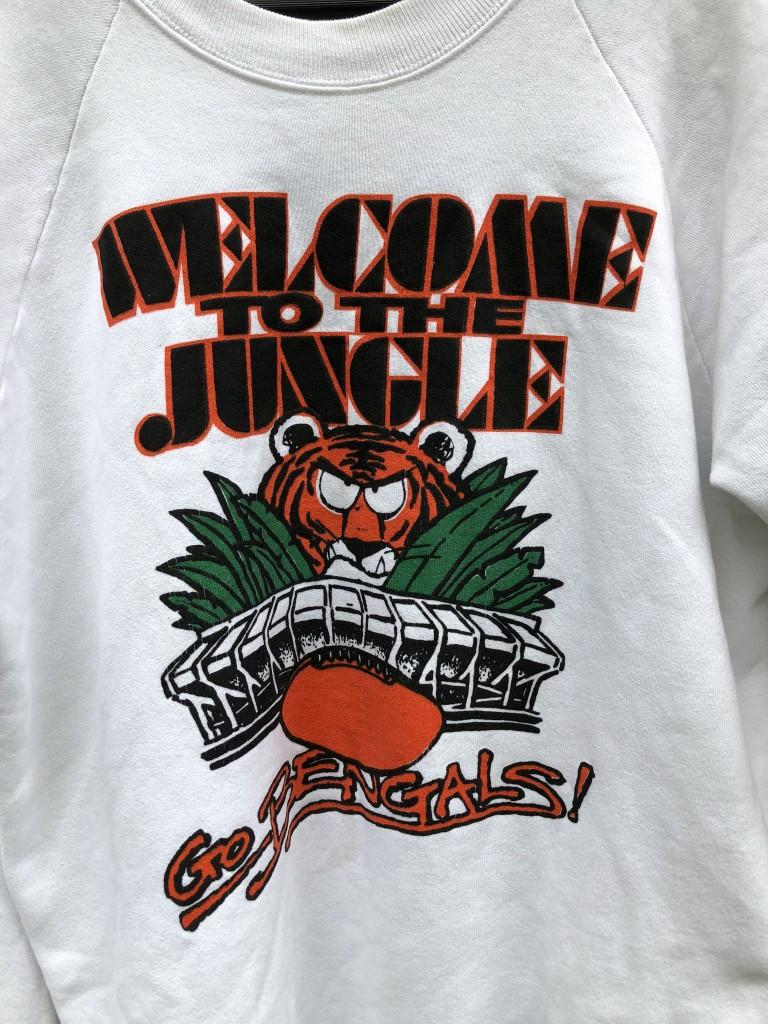 ce1ba93d 80's Cincinnati Bengals Welcome To The Jungle NFL Crewneck Sweatshirt