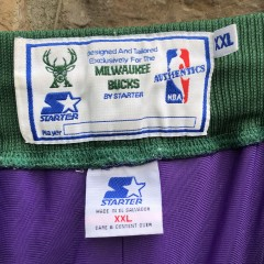 vintage 90's Milwaukee Bucks Authentic Starter NBA Shorts size XXL