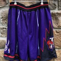 vintage 90's Toronto Raptors Authentic Nike NBA Shorts size 36 large