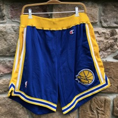 vintage early 90's Golden State Warriors Champion authentic NBA shorts RUN TMC