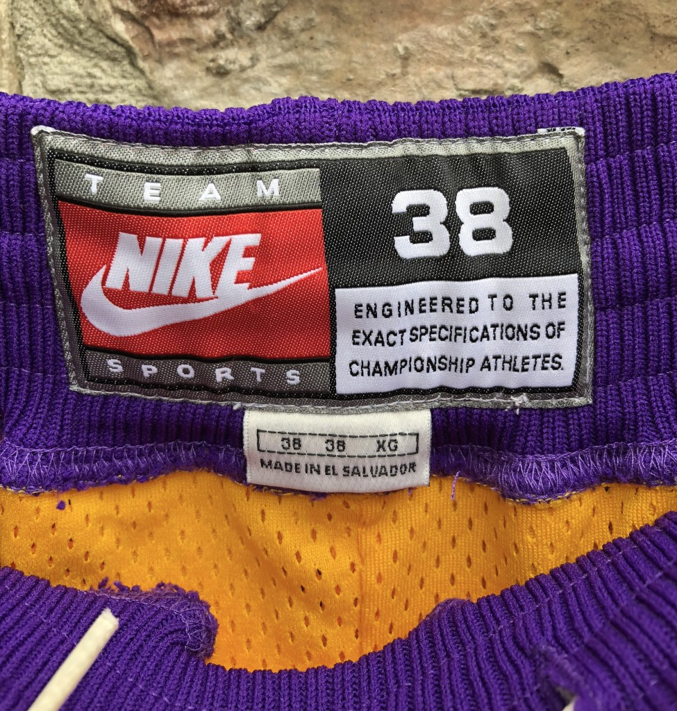 1955d4bd1ad Vintage 90 s Los Angeles Lakers authentic Nike shorts size 38