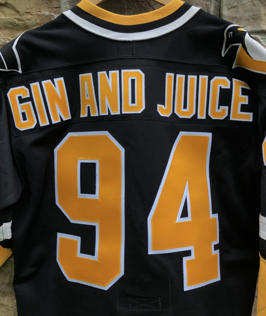 vintage 90 s Pittsburgh Penguins Authentic CCM Gin and juice snoop dogg  jersey size 44 large 13277462b83