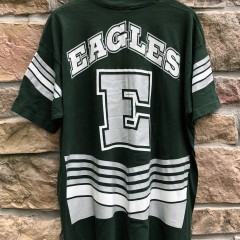 vintage 90's 1995 Philadelphia Eagles Salem Sportswear double sided green t shirt size XL