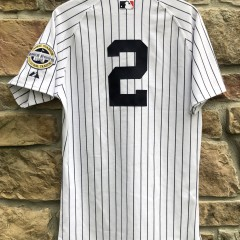 vintage 2009 New York Yankees Derek Jeter Majestic Authentic MLB jersey size 40 medium yankee stadium inaugural season