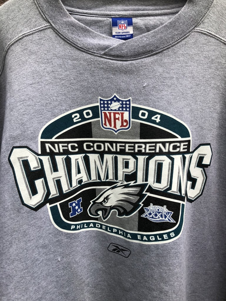 2004 vintage philadelphia Eagles NFC conference champions NFL crewneck  sweatshirt size XL be55ce024