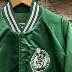 vintage 90's Boston Celtics Chalkline satin NBA Jacket sie XL