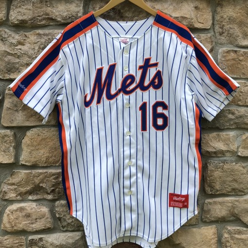 vintage 1991 Dwight Doc Gooden New York Mets Authentic Rawlings MLB jersey size 44 large deadstock