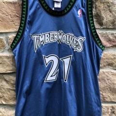 2002 Kevin Garnett Authentic Minnesota Timberwolves Reebok NBA Jersey Size 48 deadstock