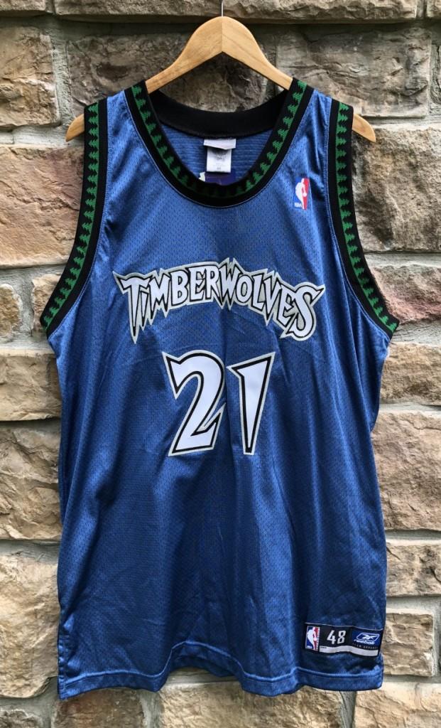 meet 88203 3a1eb 2002 Kevin Garnett Minnesota Timberwolves Authentic Reebok NBA Jersey Size  48