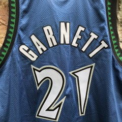 2002 Kevin Garnett Authentic Minnesota Timberwolves Reebok NBA Jersey Size 48 deadstock