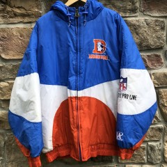 vintage early 90's Denver Broncos Logo Athletic Pro Line NFL heavyweight jacket size XL