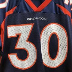 vintage 90's Terrell Davis Denver Broncos Champion NFL Jersey size 44 large