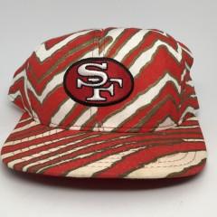 vintage 90's San Francisco 49ers Zubaz NFL Snapback hat OG