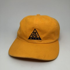 vintage 90's Nike ACG 5 panel dad cap hat yellow OG