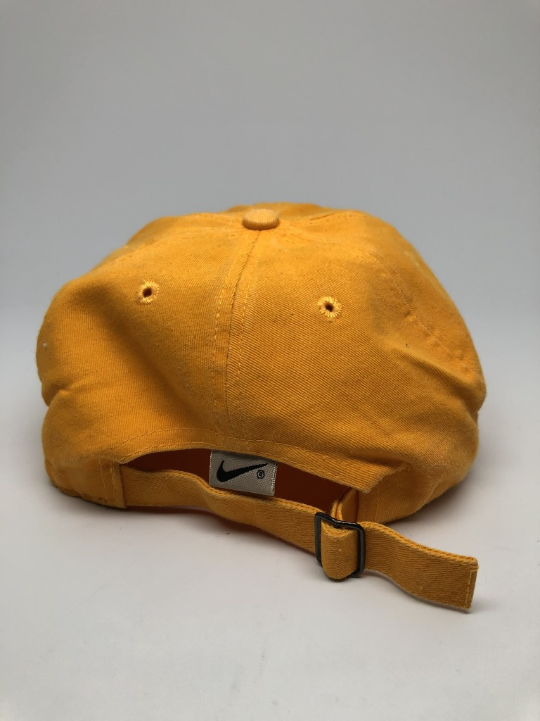 1b81463f 90's Nike ACG 5 Panel Strapback Hat Mustard Yellow | Rare Vntg