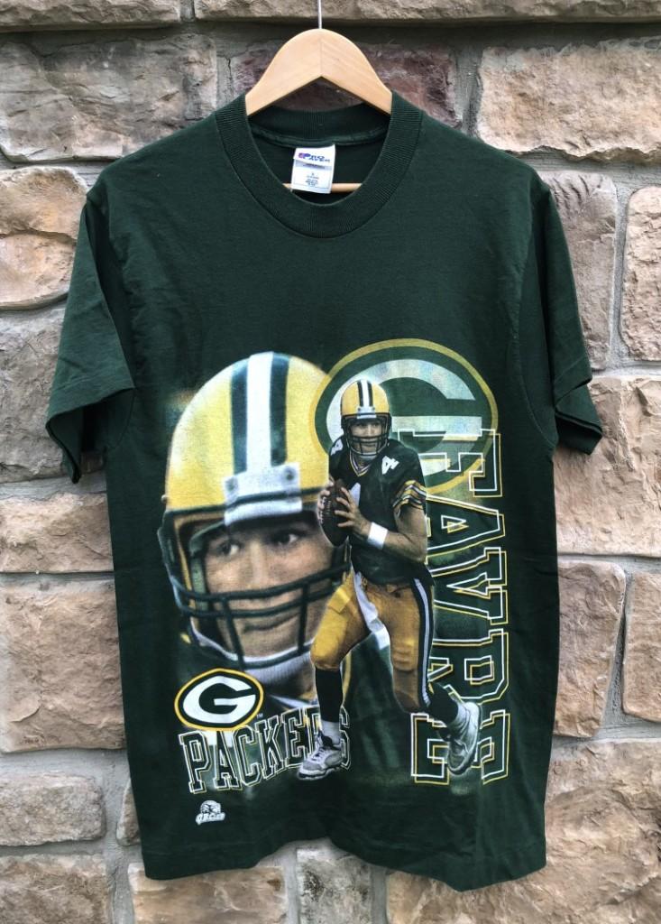huge discount f35a9 20008 90's Brett Favre Green Bay Packers Pro Player NFL T Shirt Size Medium