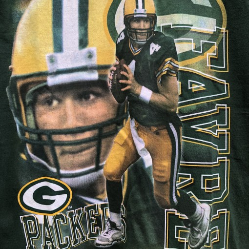 vintage 90's Green Bay Packers Brett Favre Pro Player NFL T Shirt size medium