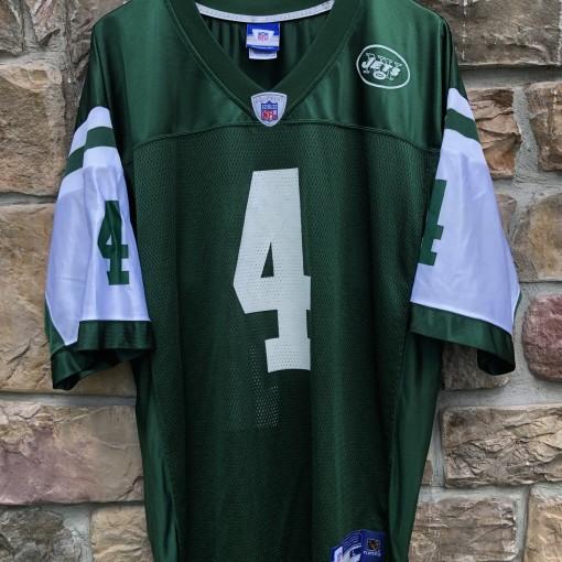 2008 Brett Favre New York Jets Reebok NFL Replica jersey size Large