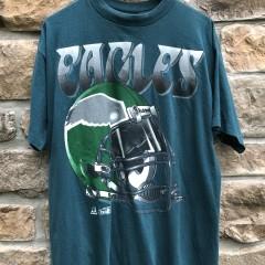 vintage 1994 Philadelphia Eagles Riddell Helmet T Shirt size XL