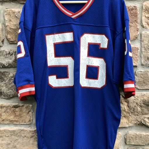 vintage 80's Lawrence Taylor New York Giants Sandknit Authentic NFL Football Jersey size 44 large