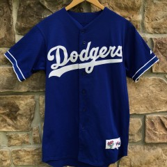 vintage 2001 Los Angeles Dodgers Majestic Diamond Collection Pro Cut Authentic MLB jersey size 40 medium