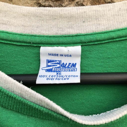 vintage 90's Boston Celtics Salem sports wear double thick NBA T shirt size XL
