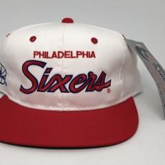 vintage 90's Philadelphia Sixers 76ers Sports Specialties  Script snapback hat
