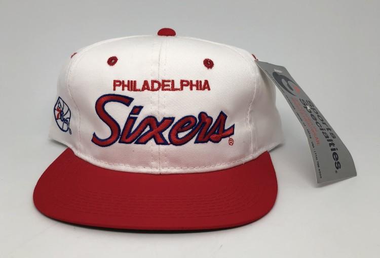 vintage 90 s Philadelphia Sixers 76ers Sports Specialties Script snapback  hat 79816e03e18