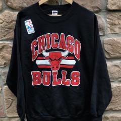 vintage 90's Chicago Bulls Trench NBA Crewneck sweatshirt deadstock size large
