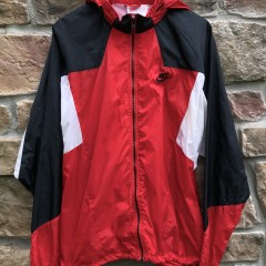 vintage early 90's Nike Grey red tag windbreaker jacket size XL