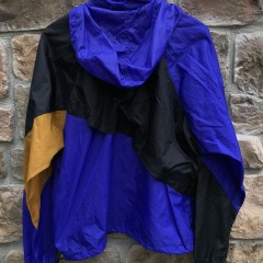 vintage early 90's Nike grey tag windbreaker jacket black purple gold size Large