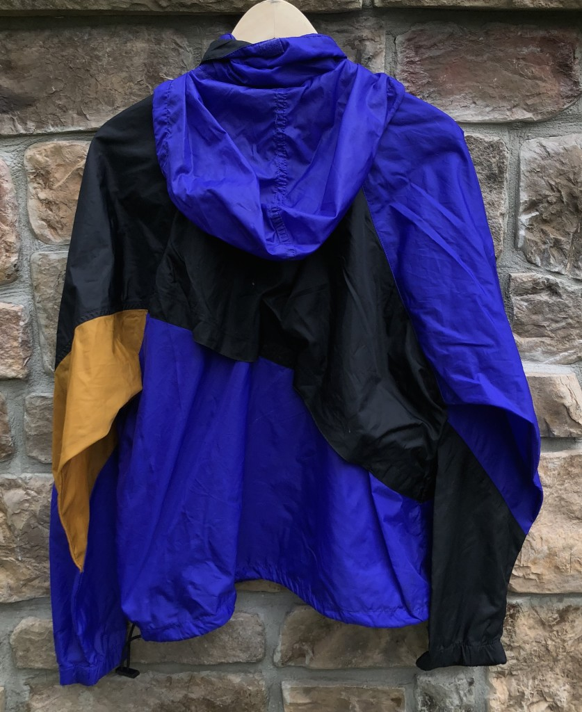 a634bd8b56a6 vintage early 90 s Nike grey tag windbreaker jacket black purple gold size  Large