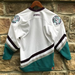 Vintage 90's Anaheim Mighty Ducks CCM nhl jersey youth size large/XL