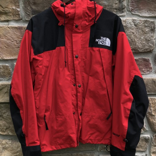vintage 90's The North Face Gore Tex Mountain Guide parka jacket red size medium supreme