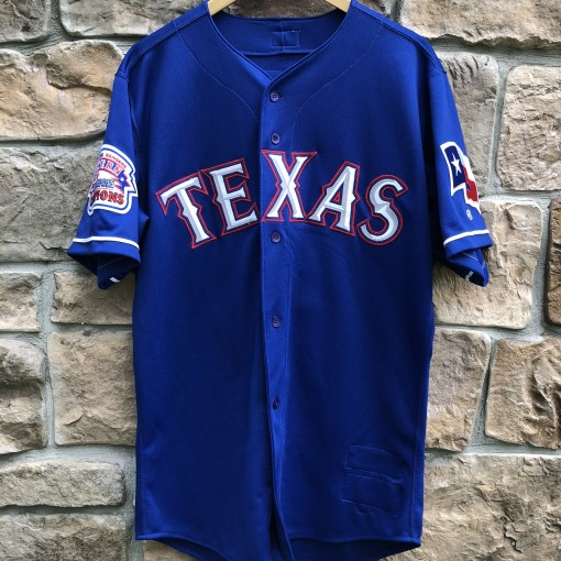 2000 Texas Rangers Mike Venafro Game Worn Rawlings MLB jersey size 44 large Meigray