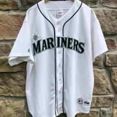 vintage 2001 Seattle Mariners Ichiro Majestic MLB jersey size XL