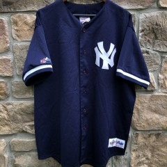 vintage 90's New York Yankees Authentic Majestic Diamond Collection Batting Practice jersey size XXL