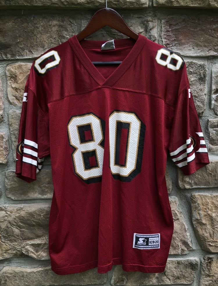 ec1f2117e vintage 90 s Jerry Rice San Francisco 49ers Starter NFL Jersey youth XL