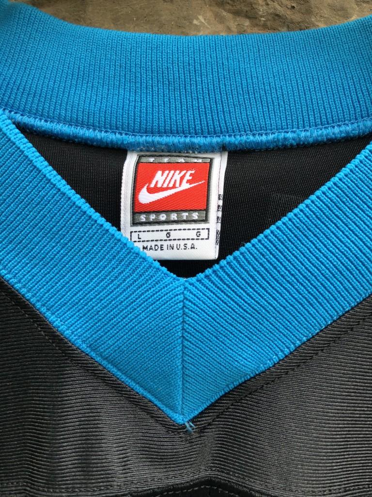 14342a200 1996 Kerry Collins Carolina Panthers Nike NFL Jersey Size Large ...