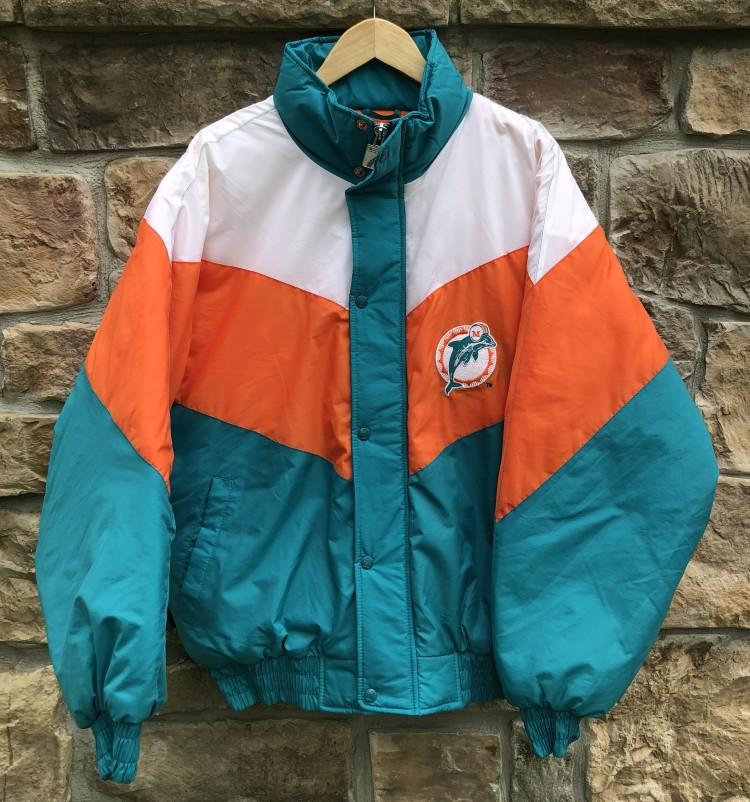 700a11522cd3c7 vintage 90 s Miami Dolphins Logo 7 NFL Jacket size large