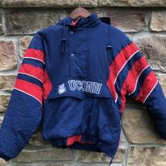 vintage 90's university of Connecticut UCONN huskies starter pullover jacket size small