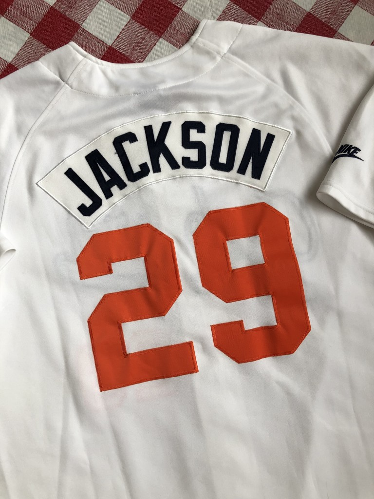 47afc474f vintage Nike retro Bo Jackson Auburn Tigers NCAA baseball jersey size large