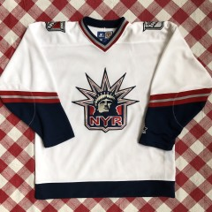 90's New York Rangers vintage Lady Liberty Alternate nhl jersey starter